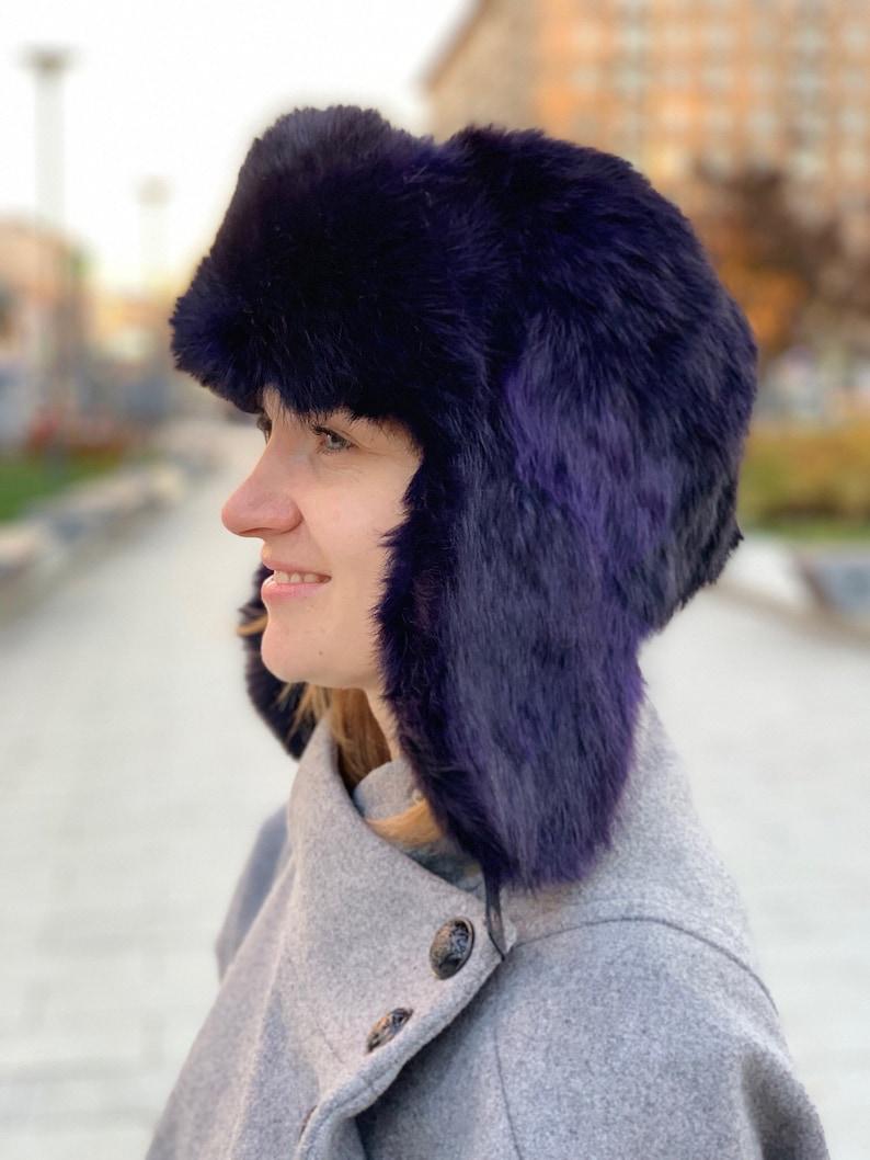 Real fur hat fur winter womens ushanka mens fur hood  89537b6b7987