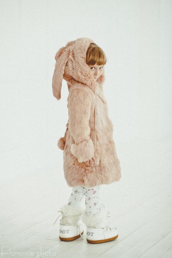 Girl Baby Coats Rabbit Fur, Fur Coat For Baby Girl