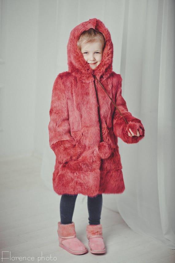 Kids Fur Coat Baby Girl Coats Rabbit, Fur Coat For Baby Girl