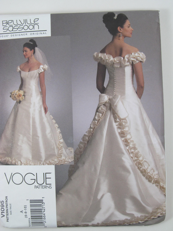 Vogue V1095: A Bridal Gown pattern designed by Bellville | Etsy