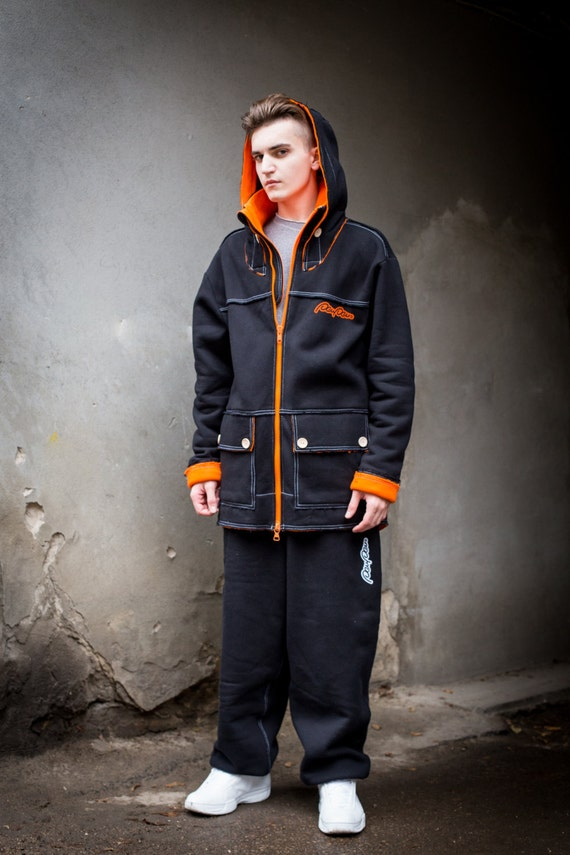 hoodie Long man Orange Black Black black Hoodie hoodie jacket warm for Zip for man woman Hoodie hoodie trendy loose spring hoodie black O1twB