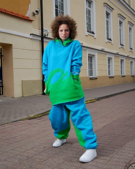 Turquoise blue Comfortable ocean Baggy cozy heavy green and Sweatpants and trousers sport sweatpants warm pants pants duty E4YwqA