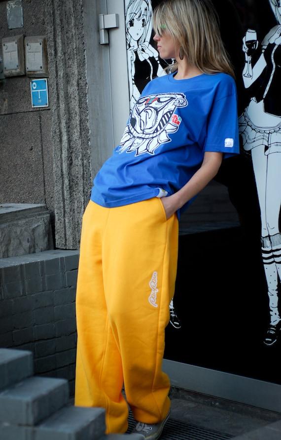 Baggy Yellow Pants, Yellow sweatpants for woman man, Drop crotch pants, Loose pants, Sweats, Yellow cotton trousers, Plus size clothing