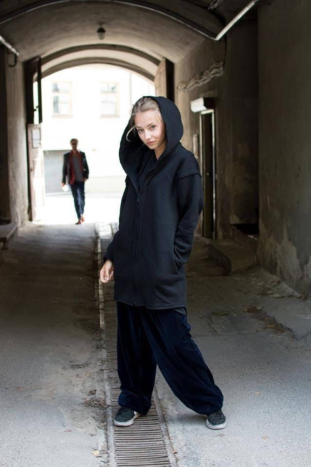 Noir grande capuche capuche Sweat à capuche capuche pour homme, femme, noir surdimensionné zip Sweat à capuche noir long à capuche veste avec poches, Sweat à capuche, vêtements gothique aa1883