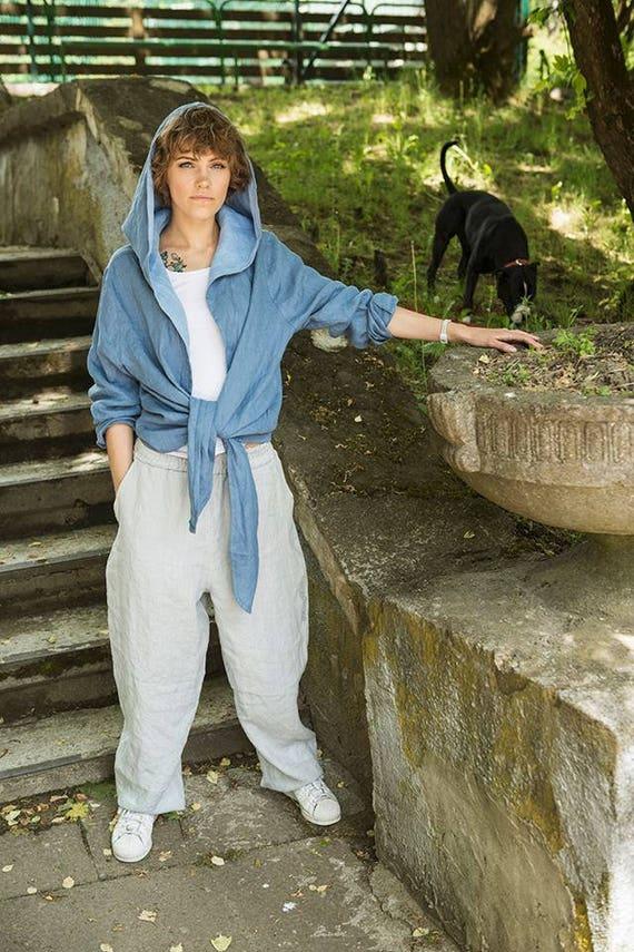 Festival Unisex linen Pants clothing Gray trousers crotch Yoga Drop gray woman Linen Pants for Pants pants man Gray Light Harem Gray 7qxFH76d