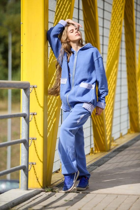 baggy Blue Blue hoodie Hoodie Deep Woman hoodie Blue Light Hoodie Hoodie hoodie Long hood oversize amp; Man Gray big Hoodie Zip Blue ZqAfWwOFS5
