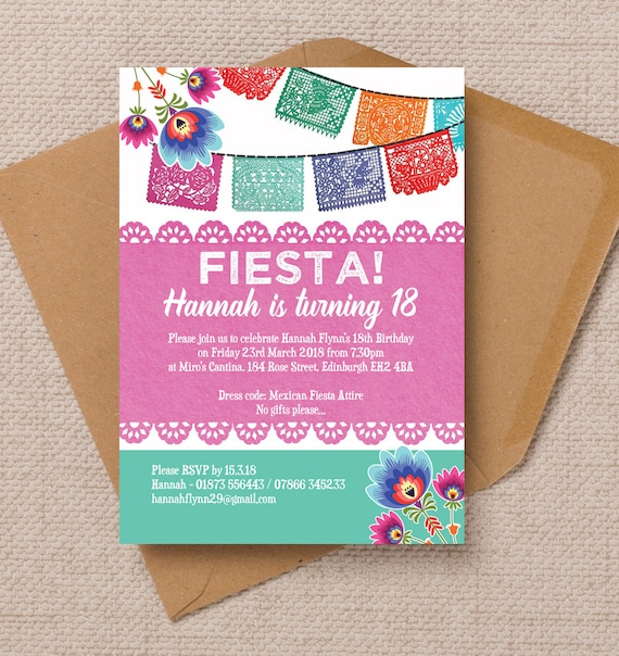 Personalised Ladies Womens Mexican Fiesta Themed Milestone