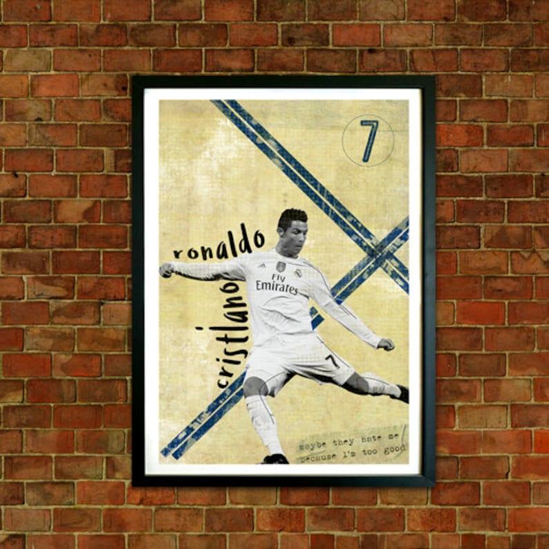 CRISTIANO RONALDO Real Madrid FC Wall Art Photo Print Poster A3 A4