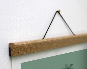 Wooden Poster Hanger, Calendar Hanger for your Office, Unique Poster Hanger, Wooden Magnetic Hanger, A2 Poster Hanger, A3 Poster Hanger, A4