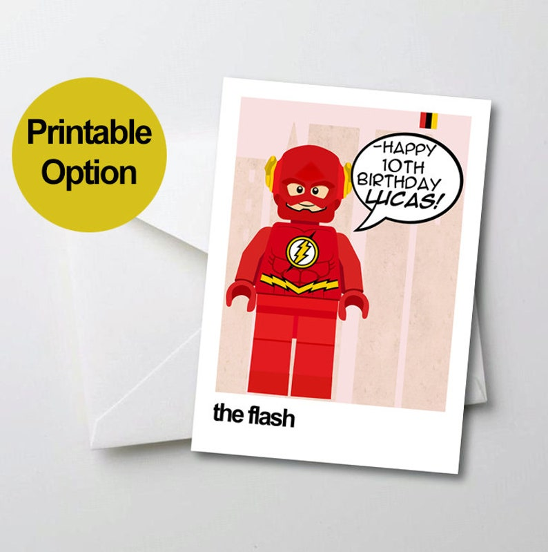 image relating to Printable Birthday Cards for Boyfriend named Printable Birthday Card, Printable The Flash Birthday Card, Individualized Birthday Card, Superhero Birthday Card, Birthday Card for Boyfriend