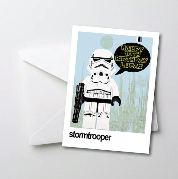 Star Wars Birthday Card.Star Wars Birthday Card Personalised Birthday Card Stormtrooper Birthday Card Birthday Card For Boyfriend Fathers Day Card Star Wars