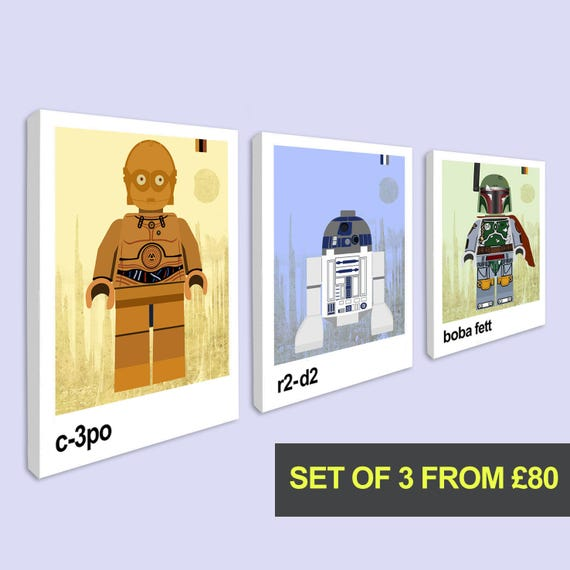 Star Wars Trilogy Film Poster Collection Wall Art Print C3PO Character