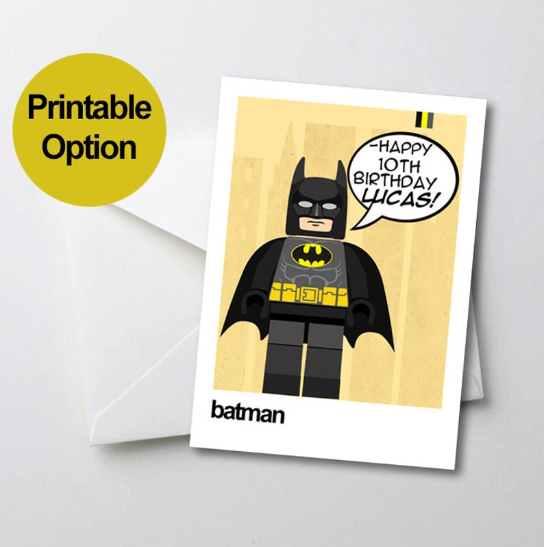 Printable Birthday Card Batman