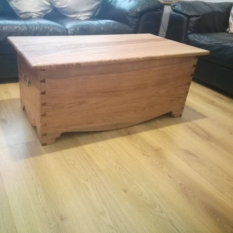Handcrafted Dovetailed Otterman Blanket Chest Coffee Table