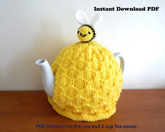 Beehive Tea Cosy Knitting Pattern Only For 4 6 Cup 2 Pt 40 Etsy