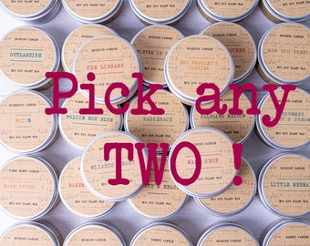 Bookish Candles - Pick Any 2 x 50ml Eco Soy Plant Wax Candles - Fandom Candles - Book Candles - Bookish Gifts