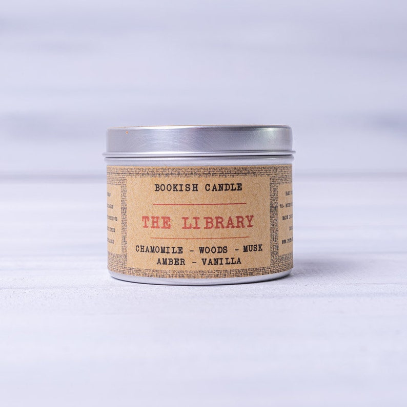 The Library  125ml Bookish Candles  Literary Candles  image 0