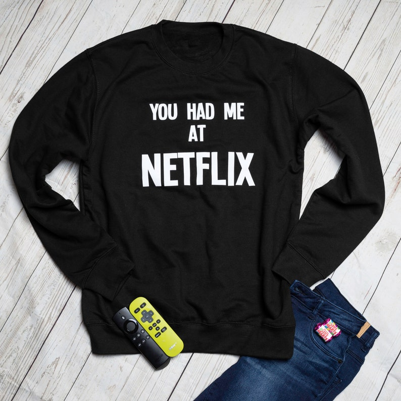 8f6993b0e2e Netflix Sweatshirt Date Night Netflix Sweater Netflix And Chill