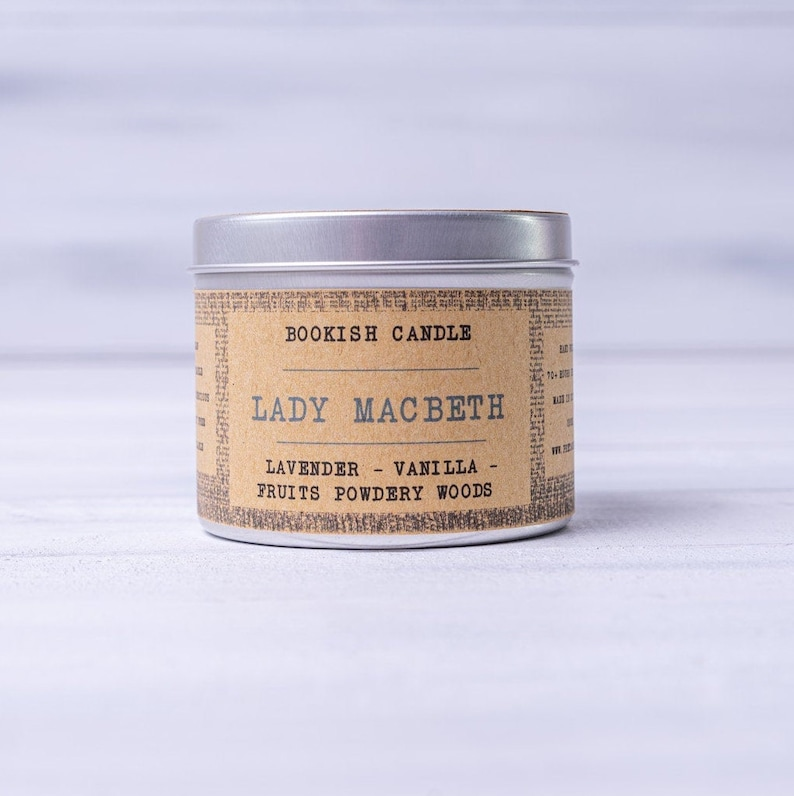 Lady Macbeth Candele Bookish 225ml Libro Lover Gift image 0