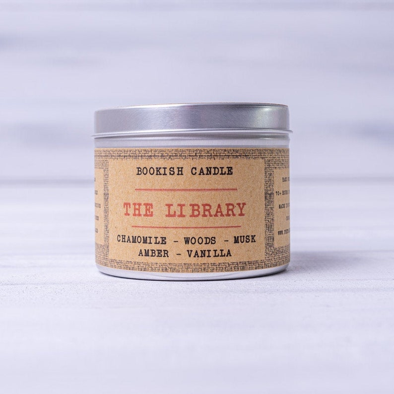 The Library  225ml Bookish Candle  Book Candles  Bookish image 0
