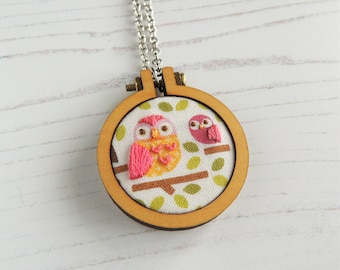 Handmade necklace, embroidered necklace, gifts for mum, gifts under 50, statement necklace, statement jewellery, handmade jewellery