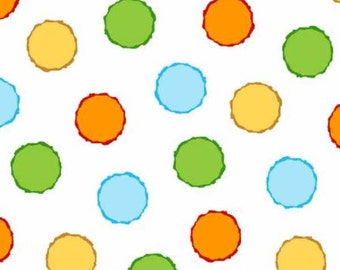 ABC - 123 Multi Colored Dots by Henry Glass & Co - 6475-61