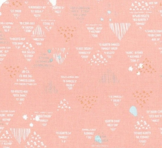 Pink Xs and Os on White by Riley Blake G5764-Pink ON SALE Double Gauze