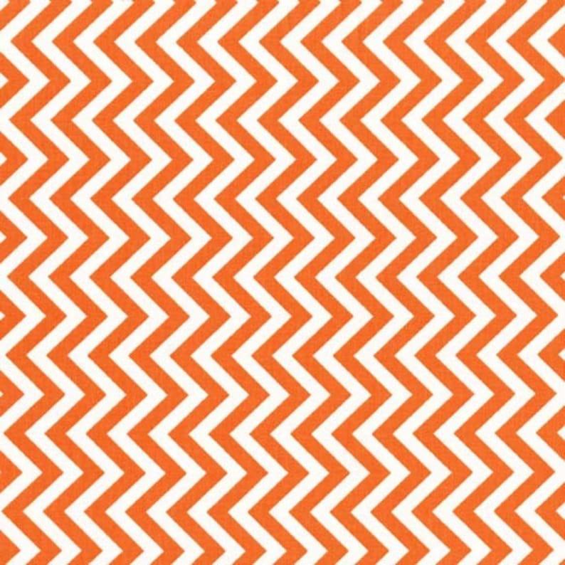 Les Monsieur Tire Treads Orange and White Chevron by Tamara Kate for Michael Miller DC6098-ORAN-D