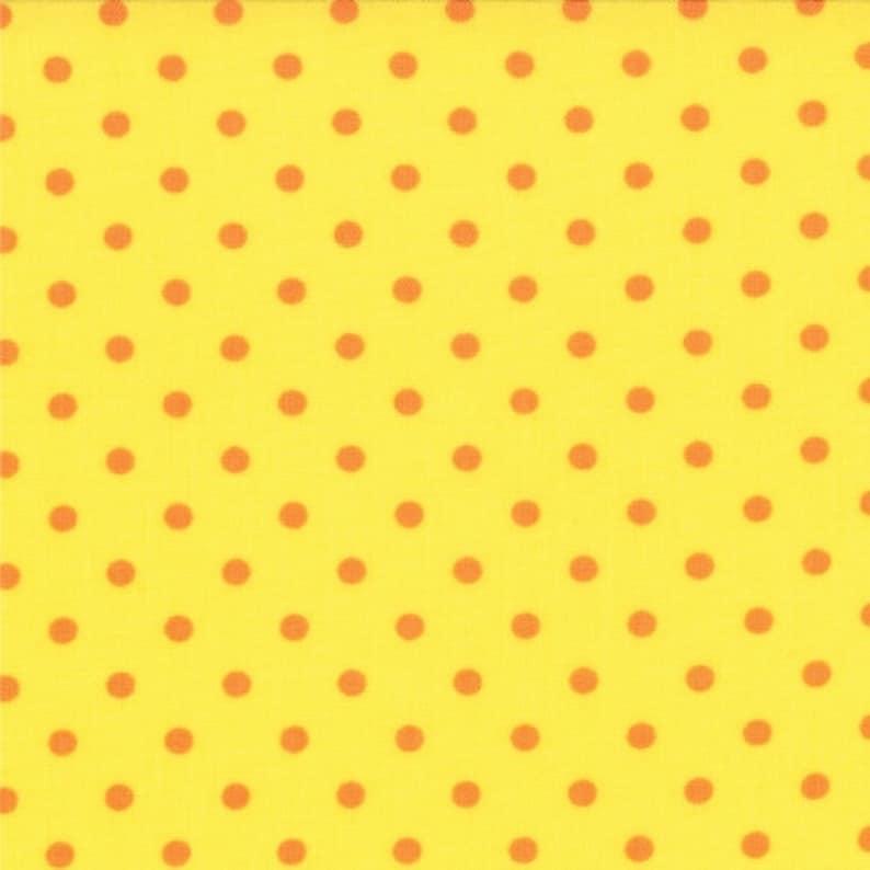 19669-14 Bloomin Fresh Orange Dots on Yellow by Deb Strain for Moda