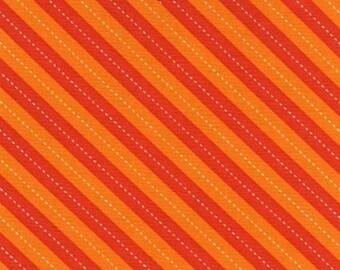 Balloon Orange and White Stripe by Michael Miller - DC7199-ORANGE-D