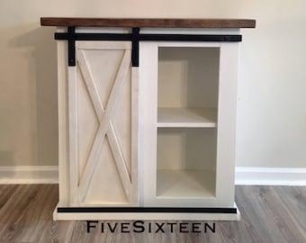 Custom Sliding Barn Door Cabinet- entertainment center, entry, buffet, console