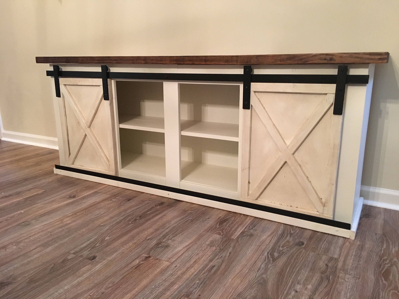 custom sliding barn door cabinet entertainment center entry. Black Bedroom Furniture Sets. Home Design Ideas