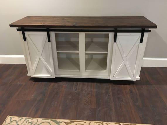 Custom Sliding Barn Door Bar Cabinet | Etsy