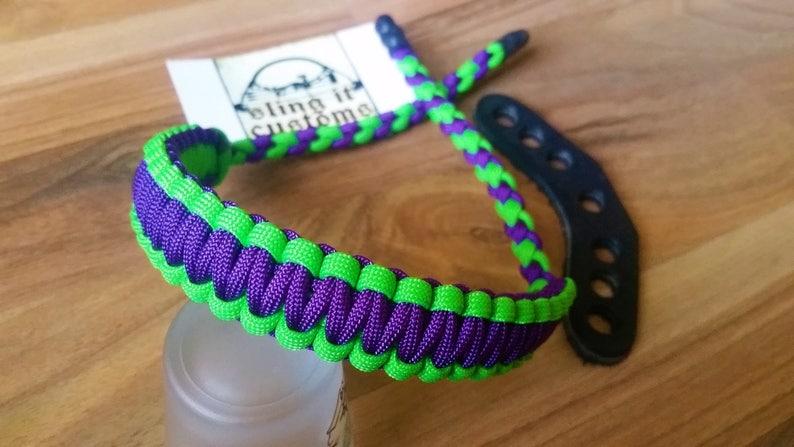 550 paracord archery wrist sling choose your colour