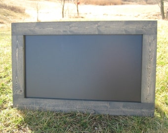 Merveilleux Weathered Grey Chalkboard Extra Large Hanging Chalk Board Home Office Black  Board Message Center Blackboard