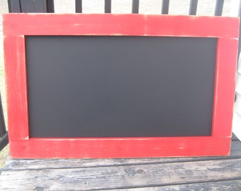 Rustic apple red chalkboard hanging chalkboard distressed farmhouse 40 x 25 inches