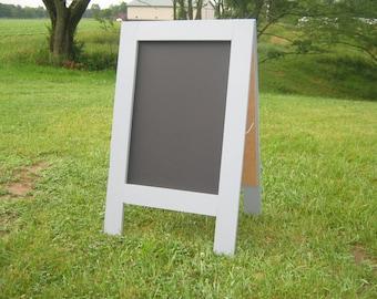 Framed chalkboard easel chalkboard winter gray sidewalk chalkboard sandwich chalk board double sided wedding outside restaurant sign