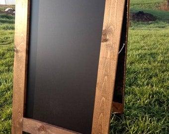 Extra large sandwich chalkboard A-frame easel double sided chalk board blackboard you pick the color