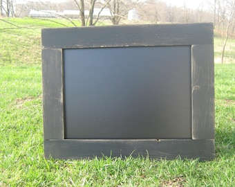 Distressed black hanging chalkboard rustic chalk board wall chalkboard wedding office home data center kids playroom