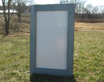 Rustic winter grey dry erase board distressed white board home office whiteboard message center