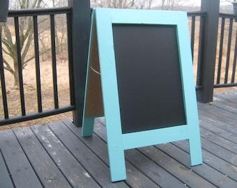 Sandwich chalkboard, double sided, A frame, easel, sidewalk chalkboard, business sign, custom, wedding, menu, chalk board.  40 x 25
