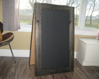 Extra large double sided sandwich chalkboard sidewalk chalk board Ebony stain two sided A frame outdoor menu sign  40 x 24 inches