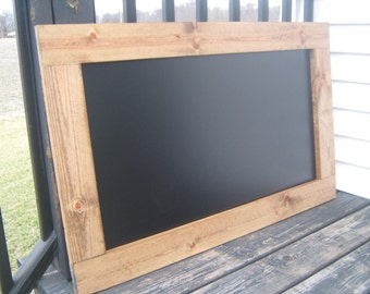 Rustic chalkboard American Century stained chalk board hanging wall chalkboard 40 x 25 inches