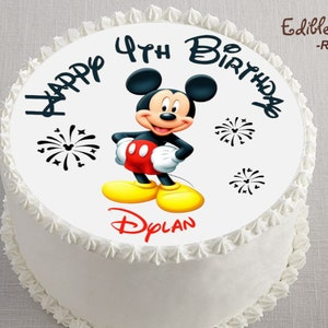 Mickey Mouse Cake Topper Etsy