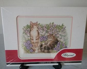 "Vintage Pimpernel ""Garden Cats"" casserole stand"