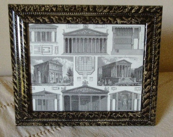 Picture frame vinegar painted in black and white