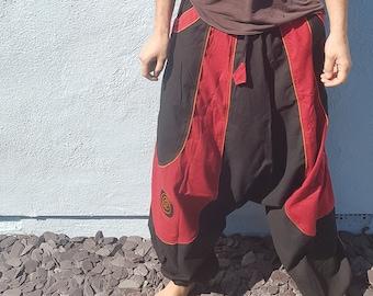 Funky Harem Trousers/Pants Colourful Rave Parachute Pants, Hippie Festival Neon Trousers,Aladdin