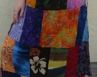 Colourful Patchwork Aztec Maxi Skirts Folk Hippy Festival Hippy Boho 8 10 12 14