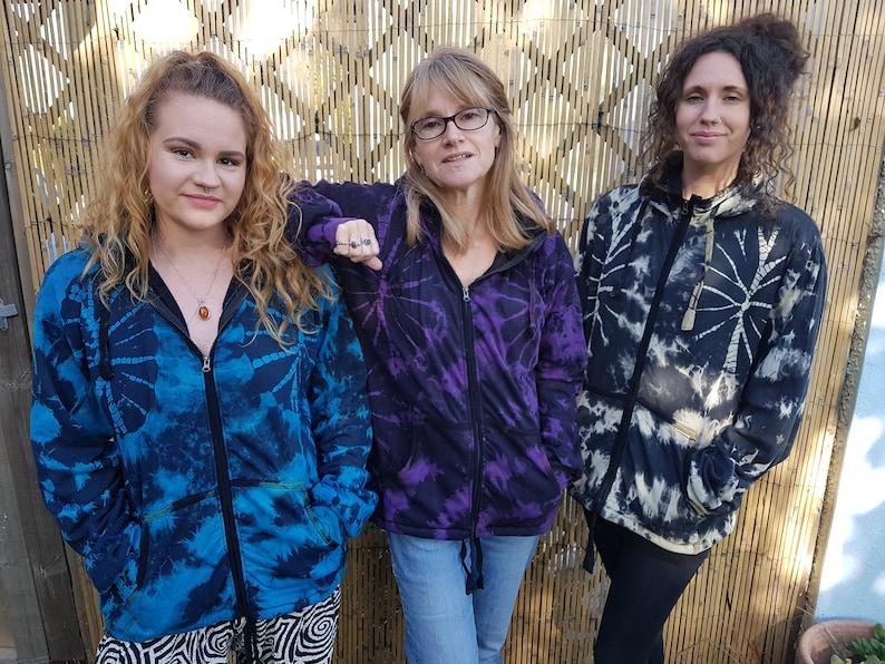 Hippie Hippy Boho Festival Fleece Lined Men M L XL Pixie Hood Women/'s Tie Dye Jacket