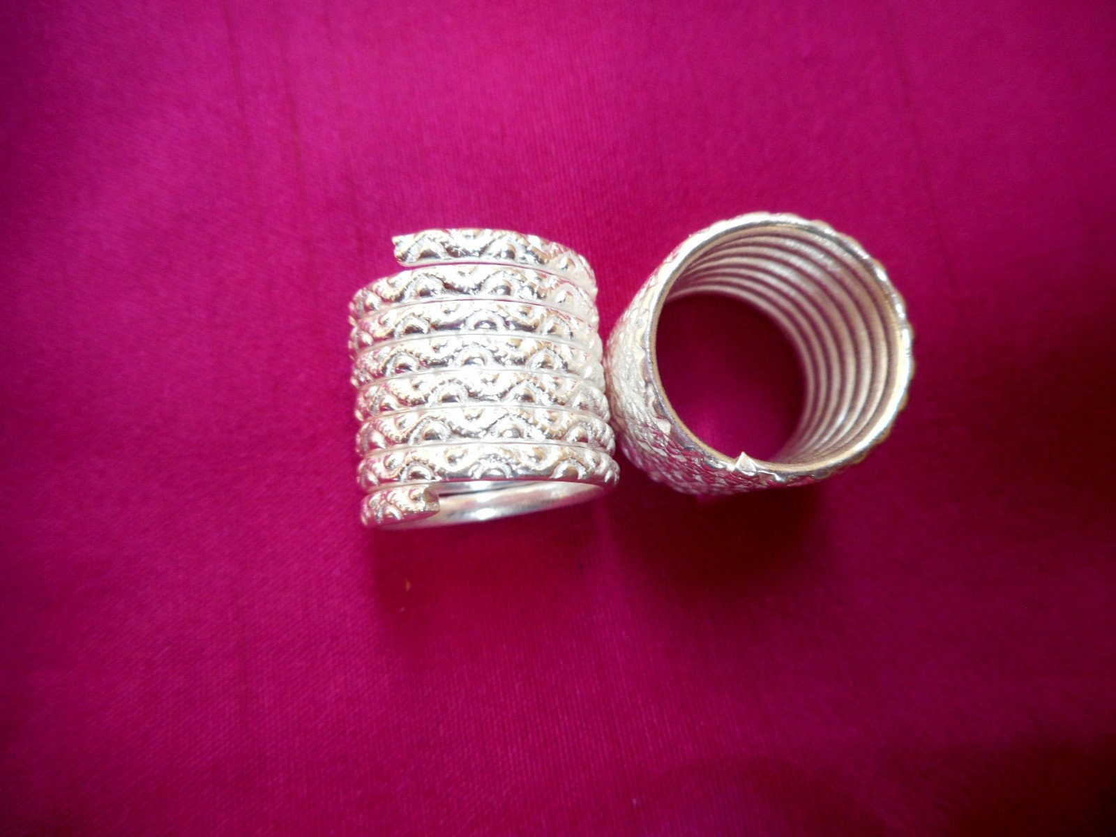 Big Coil Toe ring Adjustable Sterling Silver Spiral Toe Ring | Etsy